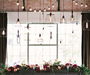 flowers, lights, and reception image