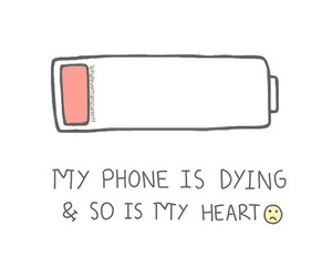 overlay, phone, and heart image