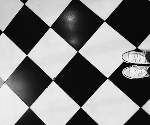 black, white, and converse image