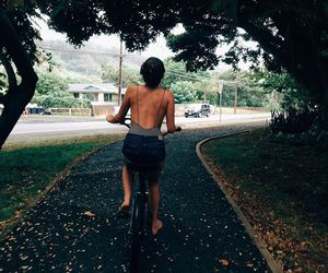 girl and bike image