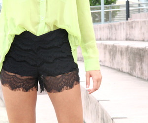 black, fashion, and shorts image