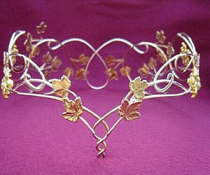 elfic, gold leaves, and accessories jewelry image