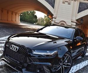 audi, car, and black image