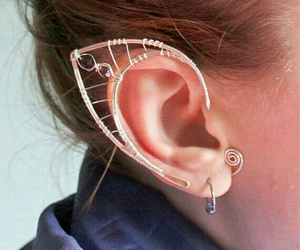 elf, earrings, and ear image