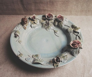 design, flowers, and plate image