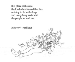 quotes, introvert, and poetry image