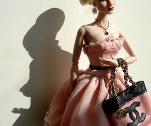 barbie, chanel, and pink image