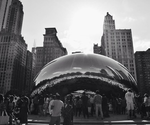 black and white, chicago, and the bean image