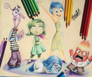 drawing, inside out, and disney image