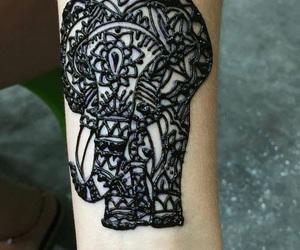 animal, henna, and art image