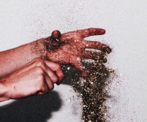 glitter, aesthetic, and hands image