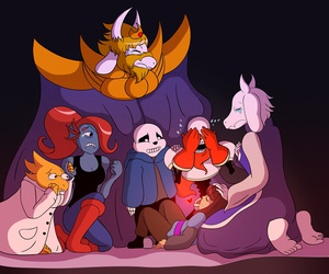 and, frisk, and friends image
