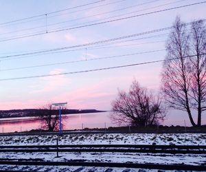 lake, scandinavia, and snow image