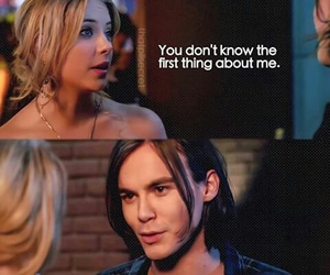 caleb, hanna, and Liars image