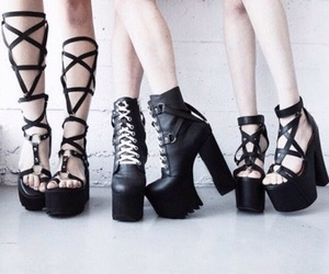 black heels, fashion, and grunge image