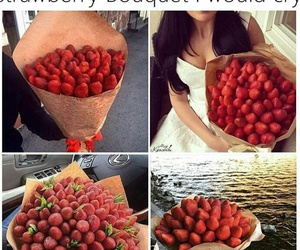 bouquet, goals, and strawberries image