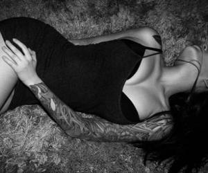 tattoo, black and white, and sexy image