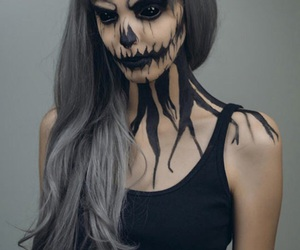 Halloween, makeup, and black image