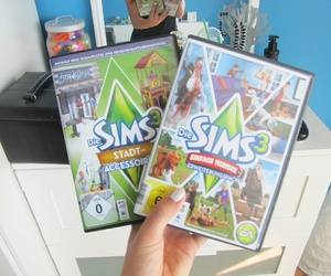 games, sims, and tumblrgirl image