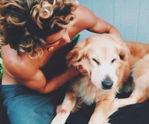 dog, summer, and boy image