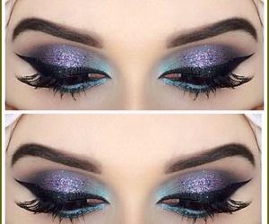 eye lashes, gorgeous, and make up image