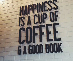 coffee, book, and happiness image