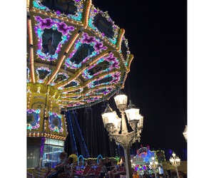 🎠, lights, and magical image