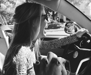 girl, couple, and car image