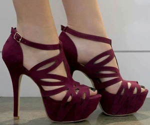 shoes, high heels, and red image