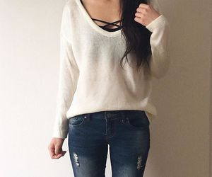 jeans, fashion, and simple image