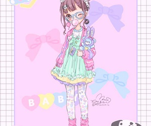 anime, illustration, and little girl image