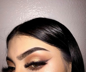 eyebrows, fashion, and glow image