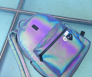 backpack, galaxy, and grunge image
