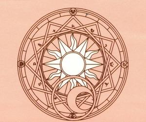anime, magic circle, and moon image