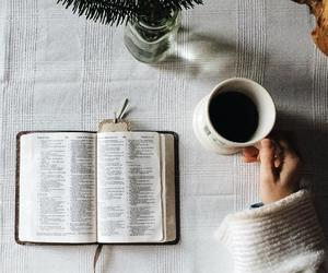 bible and coffee image