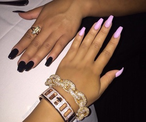 nails, black, and luxury image