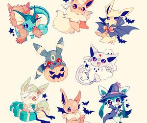 pokemon, Halloween, and eevee image