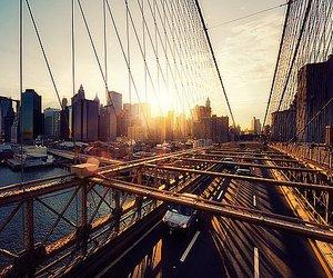bridge, city, and new york image