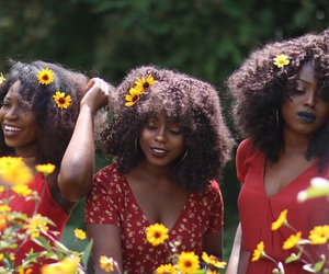 divas, flowers, and girls image