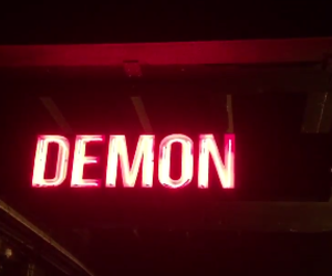 demon, red, and neon image