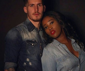 interracial couple and love image