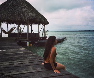 girl, loneliness, and ocean image