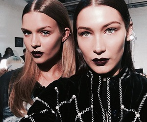 bella hadid, model, and josephine skriver image