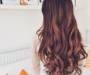 hair, brunette, and beautiful image