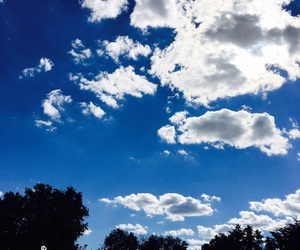 beautiful, blue skies, and clouds image
