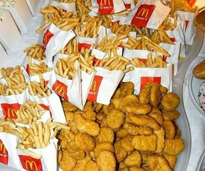 food, McDonalds, and nuggets image
