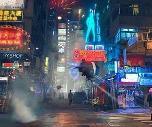 city, lights, and free image