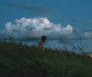 clouds, grunge, and vintage image