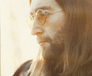 john lennon, long hair, and the beatles image