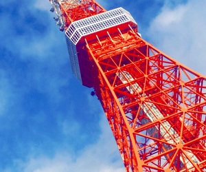 building, japan, and sky image